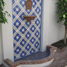 Mediterranean Outdoor Fountains by Exquisite Ceramics