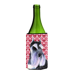 Caroline's Treasures - Schnauzer Hearts Love and Valentine's Day Portrait Wine Bottle Koozie Hugger - Schnauzer Hearts Love and Valentine's Day Portrait Wine Bottle Koozie Hugger SS4477LITERK Fits 750 ml. wine or other beverage bottles. Fits 24 oz. cans or pint bottles. Great collapsible koozie for large cans of beer, Energy Drinks or large Iced Tea beverages. Great to keep track of your beverage and add a bit of flair to a gathering. Wash the hugger in your washing machine. Design will not come off.