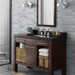 "Ronbow - Ronbow Contempo 033748-H01 - Ronbow Brennon 48"" Wood Vanity Base in Dark Cherry - 033748-H01"