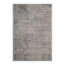"""Nourison - Transitional Graphic Illusions 7'9""""x10'10"""" Rectangle Grey Area Rug - The Graphic Illusions area rug Collection offers an affordable assortment of Transitional stylings. Graphic Illusions features a blend of natural Grey color. Machine Made of 50% Poly   50% Acrylic the Graphic Illusions Collection is an intriguing compliment to any decor."""