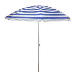 Pier Surplus - 6.5' Outdoor Beach Umbrella - Beach Stripe #UB20167 - Product SKU: UB20167