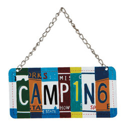 Midwest CBK - Camping License Plate Christmas Tree Ornament - Novelty Holiday Gift - Camping License Plate Christmas Ornament