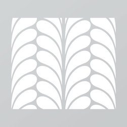 Just A Trace LLC - Just A Trace Camille Art Deco Pattern Stencil 20-Inch - A classy Art Deco pattern stencil! Make a statement: repeat this design on your walls, floor, ceiling and furniture.