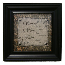 MyBarnwoodFrames - Sorrow Looks Back Faith Looks Up Framed Quote - Sorrow  looks  back,  worry  looks  around,  faith  looks  up.  A  great  gift  to  anyone  who  is  struggling  or  suffering.  Or,  just  put  it  on  your  wall  as  a  gentle  reminder  to  continue  to  have  hope  every  day.