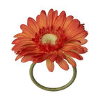 Gerber Daisy Orange Napkin Ring - It doesn't get any fresher than this realistic daisy napkin ring, bursting with color.