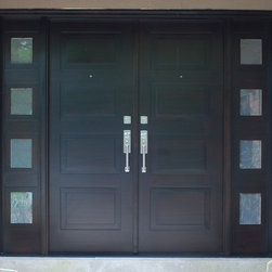 Chad Womack Design - Modern Front Entry Doors in African Mahogany -