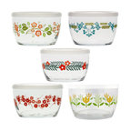 Vintage-Style Floral Storage Bowls - We can't get enough of these cute vintage floral glass bowls! For taking leftovers to work, storing your favorite foods, or for mixing and servingthey're not only functional, they're pretty to look at too.