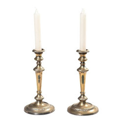 SOLD OUT!   Pair of Tall Brass Candle Sticks - $300 Est. Retail - $165 on Chairi -