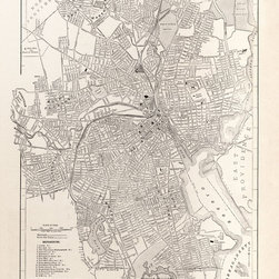 Stomping Grounds - Map Of The City Of Providence, Rhode Island - 1923 - Reproduction from 'The New World Atlas and Gazetteer' published in 1923.