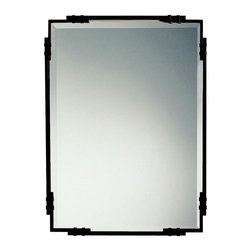 "WESTWOOD - WESTWOOD 41046TZ Silverton Transitional Rectangular Mirror - As a match to the 5346 TZ BeautyWrap bathroom fixture, purchase this fine Tannery Bronze beveled mirror to complete a uniform look for your Beautywrap lighting system. It measures 24"" wide by 33"" high."