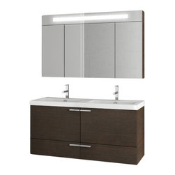 ACF - 47 Inch Wenge Bathroom Vanity Set - Just the bath vanity for a more modern & contemporary bath - start with this bathroom vanity.
