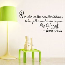 Colorfulhall Co.,LTD. - Wall Appliques Sayings The Smallest Things Takes Up The Most Room In Your Heart - Wall Appliques Sayings The Smallest Things Takes Up The Most Room In Your Heart