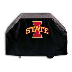 """Holland Bar Stool - Holland Bar Stool GC-IowaSt Iowa State Grill Cover - GC-IowaSt Iowa State Grill Cover belongs to College Collection by Holland Bar Stool This Iowa State grill cover by HBS is hand-made in the USA; using the finest commercial grade vinyl and utilizing a step-by-step screen print process to give you the most detailed logo possible. UV resistant inks are used to ensure exeptional durablilty to direct sun exposure. This product is Officially Licensed, so you can show your pride while protecting your grill from the elements of nature. Keep your grill protected and support your team with the help of Covers by HBS!"""" Grill Cover (1)"""