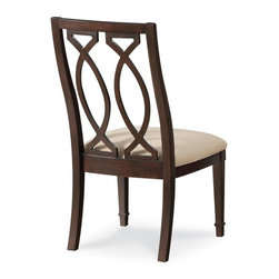 A.R.T. Furniture - A.R.T. Furniture Intrigue Wood Back Side Chair - Dark Wood with Maple Stringer I - Shop for Dining Chairs from Hayneedle.com! The crisp uncluttered lines and subtly sinuous forms of the A.R.T. Furniture Intrigue Wood Back Side Chair Dark Wood with Maple Stringer Inlay Set of 2 bring a natural grace to transitionally styled dining rooms. These seats are made from durable hardwood solids with gray elm veneer and maple stringer inlays and a striking marquise pattern chair back design.About A.R.T. FurnitureFounded in 2003 A.R.T. Furniture creates beautiful high-quality furniture inspired by architecture and design. Their sophisticated aesthetic draws upon the best of traditional European furniture designs as well as rustic coastal and transitional styles. A.R.T. Furniture is known for its themed collections that reinvent classic forms for the needs of contemporary home decorators. Their dining room bedroom entertainment and living room furnishings are constructed from sustainably forested hardwoods and veneers. A.R.T. Furniture is distinguished by its superior craftsmanship and attention to detail taking the extra step in the manufacturing process to ensure quality beauty and durability for its customers.