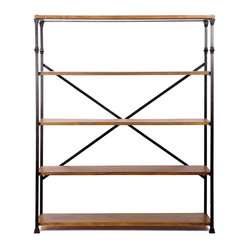 Langley Iron and Wood Bookshelf