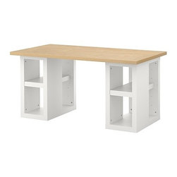 IKEA of Sweden - VIKA AMON/VIKA ANNEFORS Table - Table, birch effect, white