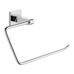 Gedy - Wall Mounted Chrome Towel Ring - A sensible option for a luxury or contemporary personal bathroom, this towel ring is the perfect option. Manufactured in italy with extremely high quality stainless steel and available in chrome, this towel ring is part of the Gedy New Jersey collection. Towel Ring for a trendy personal bathroom. Luxury towel ring. Extremely high quality stainless steel, coated with chrome. Made by Gedy in Italy.