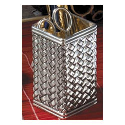 Godinger Silver - Silver Plated Pencil Holder - Smarten your office to attract diligent workers. This pencil holder will make all the difference, so try it and see it works. Store your pens, pencils or markers in a unique fashion using our Godinger Silver Plated Holder.