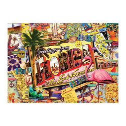 Masterpieces - Masterpieces Suitcase Florida Puzzle Multicolor - 71360 - Shop for Puzzles from Hayneedle.com! About Masterpieces Puzzles & GamesFor the past 17+ years Masterpieces has delighted kids and parents. From art kits to puzzles of all levels Masterpieces ensures playtime activities that develop cognition as much as they foster fun. All Masterpiece items are tested for safety and this company is definitely eco-minded: All of their puzzles are manufactured using board with 100% recycled post-consumer materials their puzzle sheets wraps and catalogs are printed with soy-based inks and even included storage bags are biodegradable. Quality mindful products are what you can expect from Masterpieces.