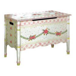 Teamson Kids - Pink Crackle Girl's Toy Box - This is a hand painted toy chest that your little ones will love! With an adorable pink crackle finish and lots of space, you can organize your children's toys and keep them cutely hidden from sight. Features: -Handmade.-Hand painted.-Handcrafted.-Unique design.-Quality construction.-Girl's Toy Chest in Pink Crackle Finish.-Collection: Pink Crackle.-Distressed: No.Dimensions: -Dimensions: 31.25'' H x 21.50'' W x 15.50'' D.