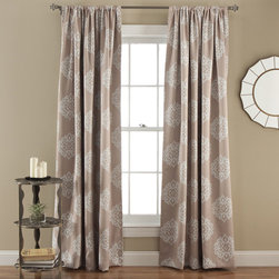 Lush Decor - Sophie Taupe 84 x 52-Inch Blackout Window Panel Pair - - Energy Efficient Window Panels! Blocks the sunlight which saves energy leading to better temperature regulation of the room while enhancing your decor with these paisley pattern blackout window curtains.  - Set Includes: 2 Panels   - No Lining  - 3-Inch Rod Pocket  - Care Instructions: Machine Wash Cold, Gentle Cycle, Only Non Chlorine Bleach When Needed, Tumble Dry Low and Cool iron if needed Lush Decor - C25567P14-000
