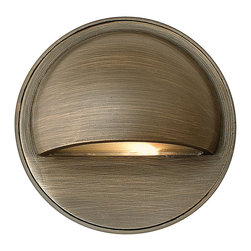 Hinkley Lighting - Hinkley Lighting 16801MZ-LED Round Eyebrow 1 Light Deck/Step Lighting - This 1-light Deck from the Round Eyebrow collection by Hinkley Lighting will enhance your home with a perfect mix of form and function. The features include a Matte Bronze finish applied by experts. This item qualifies for free shipping!