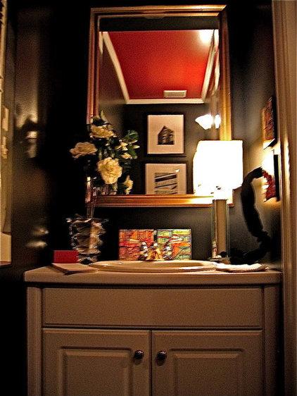 Traditional Powder Room by Jennifer Hulse Design