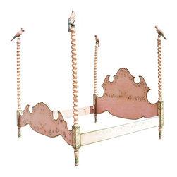 Italian PATINA Bernini Model Painted Four-Poster Bed - Ref: B-57-0218