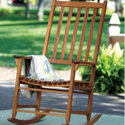 Merry Garden Oversize Classic Rocking Chair - If you have room, there's nothing as inviting as a pair of wooden rocking chairs on a front porch.
