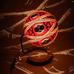 Handcrafted Gourd Lamp - Table lamp VIII - Table lamp VIII