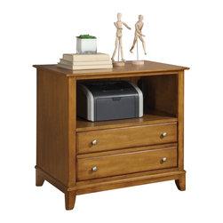 Wynwood - Wynwood Gordon Printer Filing Cabinet in Light Nutmeg - Wynwood - Filing Cabinets - 121117 -