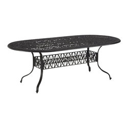 Home Styles - Home Styles Floral Blossom Oval Dining Table in Charcoal - Home Styles - Dining Tables - 555834 - By combining outdoor elements such as ceremonial and abstract floral designs the Floral Blossom Dining Set by Home Style is brought to life.