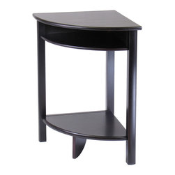 Winsome Wood - Winsome Wood Liso Corner Table - Cube Storage & Shelf - Corner Table - Cube Storage & Shelf belongs to Liso Collection by Winsome Wood Combination of solid and composite wood corner desk with Espresso finish from our coordinated Liso line of home office furniture is 20.5 x20.5 x 31.1H. The desk has 2 open shelves for storage; matches in height with the printer stand and file cabinet . It comes ready to assemble with hardware and tools End Table (1)