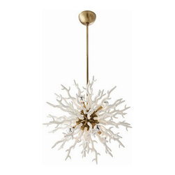 Arteriors Home - Arteriors Home Diallo White Chandelier, Small - Arteriors Home 89986 - With the same precise yet unbridled beauty that nature renders coral, this exquisite piece can give your home. Each sprig is coated in a smooth lacquered resin. This dramatic lighting fixture is left to linger in your guests hearts and minds.