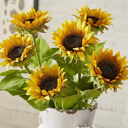 Faux Sunflower Stem, Yellow - To me, sunflowers and farmhouses just go together.