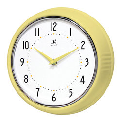 Infinity Instruments, Ltd. - Infinity Instruments Retro Iron Wall Clock, Aura - Infinity Instruments Retro Wall Clock collection has been a staple in the interior design/wall décor accessories for well over a decade.  It has proven the test of time with a clean retro look that fits most, if not all, home décor layouts. There have been many copy cats but there is only one true  Retro Iron Wall Clock.