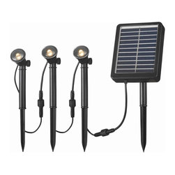 Kenroy - Kenroy 60504 Solar Spotlight 3 Light String - Solar Spotlights are ideal for illuminating steps, shrubs, flags, address markers, fountains, statuary and other landscape elements outside of your home or business.