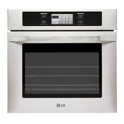 LG Studio - Studio Series LSWS305ST Single Electric Wall Oven with 4.7 cu. ft.  4 Convection - Cook like a pro with a premium built in double wall oven offers the perfect harmony between style and performance This sleek state-o-f-the-art wall oven has beautifully designed exterior combined with features benefiting the chef in you Capacity 47 cuft