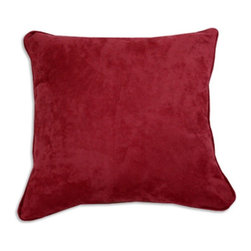 """Chooty & Co. - Passion Suede Dusty Rose 17-in. Square Pillow Multicolor - CS19C803 - Shop for Pillows from Hayneedle.com! About Chooty & Co.A lifelong dream of running a textile manufacturing business came to life in 2009 for Connie Garrett of Chooty & Co. This achievement was kicked off in September of '09 with the purchase of Blanket Barons well known for their imported """"soft as mink"""" baby blankets and equally alluring adult coverlets. Chooty's busy manufacturing facility located in Council Bluffs Iowa utilizes a talented team to offer the blankets in many new fashion-forward patterns and solids. They've also added hundreds of Made in the USA textile products including accent pillows table linens shower curtains duvet sets window curtains and pet beds. Chooty & Co. operates on one simple principle: """"What is best for our customer is also best for our company."""""""