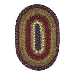 Homespice Decor - Homespice Decor Log Cabin Braided Rug Multicolor - 411044 - Shop for Rugs and Runners from Hayneedle.com! The Homespice Decor Log Cabin Braided Rug features brilliant blue and bright burgundy tones softened with shades of mustard brown and gold. This bold and colorful rug adds drama to any decor. These 100% cotton flat braided rugs lend color warmth and a cozy feel to any home. Made in India.Sizes offered in this rug:Following are all sizes for this rug. Please note that some may be currently unavailable due to inventory. Also please note that rug sizes may vary by up to 4 inches in dimensions listed.Dimensions:2 x 3 ft.2.3 x 4 ft.3 x 5 ft.4 x 6 ft.5 x 8 ft.6 x 9 ft.2.6. x 6 ft. Rectangle Runner2.6 x 9 ft. Rectangle Runner3 ft. Square6 ft. Square2 x 3 ft. Oval2.3 x 4 ft. Oval3 x 5 ft. Oval4 x 6 ft. Oval5 x 8 ft. Oval6 x 9 ft. Oval8 x 10 ft. Oval2.6. x 6 ft. Oval Runner2.6 x 9 ft. Oval Runner3 ft. Round6 ft. Round7.6 ft. RoundAbout Homespice Decor RugsProducing quality homemade products since 1998 Homespice Decor has become an industry leader in braided rugs (outdoor indoor wool and cotton) and has expanded its line to include penny rugs rag rugs and its newest - Supernova rugs - which feature a swirling star braid design. Formerly known as J Quilts Company Homespice Decor shifted its focus from quilts to rugs pouring itself into the intricate details of braided rug craftsmanship. Homespice Decor is committed to providing affordable braided rugs of the highest quality in an abundance of sizes and styles.