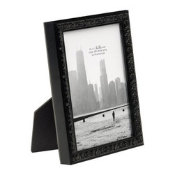 Bella Moulding - Francesca Small Black Ornate Picture Frame, 8x10 - All Bella Moulding Frames include 100% Archival Materials and UV Protective Glass. Classy matte black finish. Moulding imported from Spain, assembled in USA. Includes Mat for 5x7 (Fits 4x6 with Mat) and 8x10 frame (Fits 5x7 with Mat).