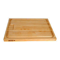 John Boos - John Boos AuJus Maple Cutting Board with Juice Groove - This John Boos Edge-Grain cutting board, Model AUJUS, features a full-perimeter juice groove. It's 1-1/2 in. thick and NSF-certified for commercial use.