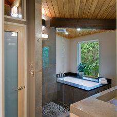 Modern Bathroom by Custom Design/Build, Inc.