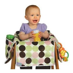 Leachco - Leachco Diner Liner Plush Booster Chair Liner in Girl Dot - The Diner Liner provides germ protection, stand-up restraint, and slip prevention all in one portable product. Includes safety seat belt to keep baby upright and secure.