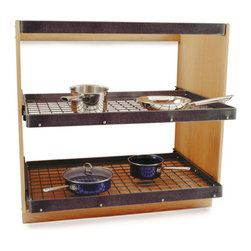 "Enclume - Cookware Shelving Unit Hammered Steel - Dimensions: Each Shelf: 36"" W x 24""D x 2""H"