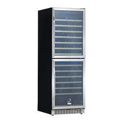 EdgeStar - EdgeStar 155-bottle Double Door Dual Zone Wine Cooler - Keep your reds and whites at their different respective temperatures with this incredible dual zone wine cooler. The large double doors make it easy to reach any of the 155 bottles that this advanced refrigeration unit can easily hold.