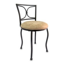 Cheyenne Industries Llc - Napa Vanity Stool - With an oil rubbed bronze finish and easy care microfiber seat cushion, vanity stool will be an elegant addition to any room. Vanity stool is easy to assemble and holds up to 250 pounds.