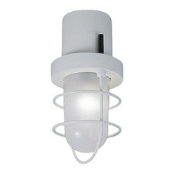 """Martinelli Luce - Martinelli Luce Polo 2808 Outdoor Wall or Ceiling Light - The Polo 2808 Outdoor Wall or Ceiling Light by Martinelli Luce has been designed by Elio Martinelli. Outdoor ceiling or wall lamp, resin structure, sandblasted glass, stainless steel grid..   Product description: The Polo 2808 Outdoor Wall or Ceiling Light by Martinelli Luce has been designed by Elio Martinelli. Outdoor ceiling or wall lamp, resin structure, sandblasted glass, stainless steel grid..  Details:                                     Manufacturer:                                     Martinelli Luce                                                     Designer:                                     Elio Martinelli                                                     Made in:                                     Italy                                                     Dimensions:                                     Diameter: 5.12"""" (13 cm) X Height: 9.84"""" (25 cm)                                                      Light bulb:                                     1 X E27 Max 20W Fluorescent                                                                  Material:                                     Resin, Sanded glass, Stainless steel"""