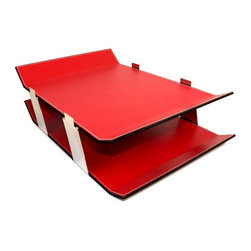 Bey-Berk - Bey-Berk D1626 Double Letter Tray - Red Leather - D1626 - Shop for Desk and Drawer Organizers from Hayneedle.com! About Bey-Berk InternationalFor more than 20 years Bey-Berk International has crafted and hand-selected unique gifts and accessories from around the world to meet the demands of discerning customers. With its line of elegant and distinctive products Bey-Berk has established itself as a leader in luxury accessories.