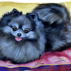 Caroline's Treasures - Pomeranian Fabric Standard Pillowcase Moisture Wicking Material - Standard White on back with artwork on the front of the pillowcase, 20.5 in w x 30 in. Nice jersy knit Moisture wicking material that wicks the moisture away from the head like a sports fabric (similar to Nike or Under Armour), breathable performance fabric makes for a nice sleeping experience and shows quality.  Wash cold and dry medium.  Fabric even gets softer as you wash it.  No ironing required.